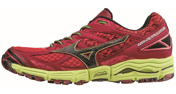 Mizuno M's Wave Mujin 2 Running Shoes Chinese Red/Black/Safety Yellow